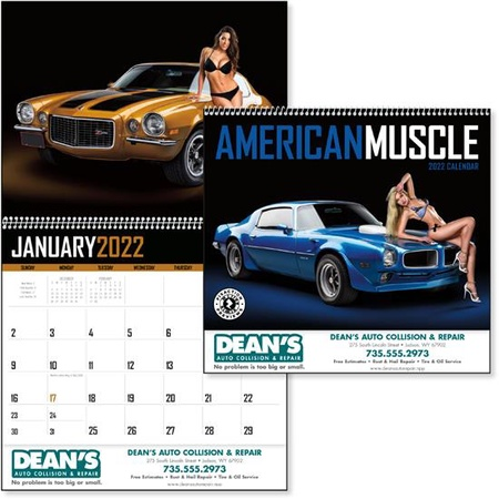 American Muscle 2022 Promotional Wall Calendars