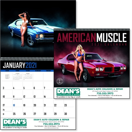 American Muscle 2021 Promotional Wall Calendars