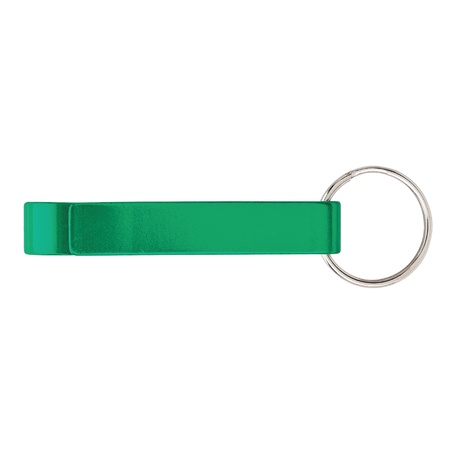 Anodized Aluminum Bottle Opener Keyring with Logo