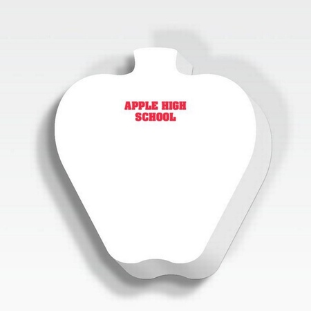 "Apple 25 Sheet 3"" x 3"" Personalized Adhesive Note Pad"