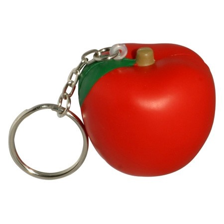 Apple Stress Ball Key Chain