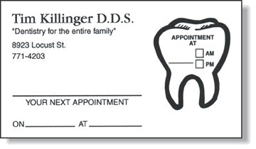 Appointment Card & Sticker for Dentists