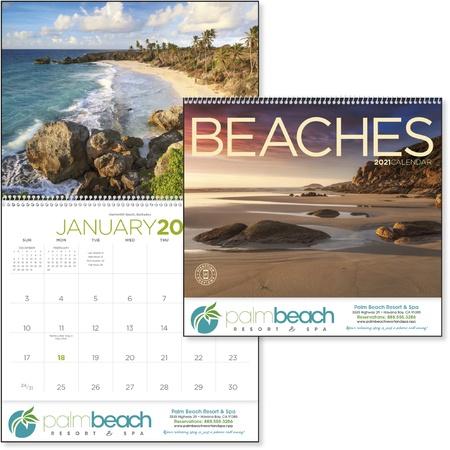 Beaches 2021 Promotional Wall Calendars