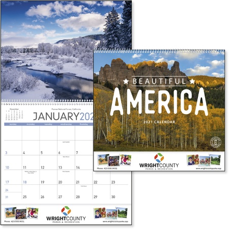 Beautiful America Promotional Calendars - 2021