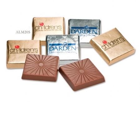 Custom Wrapped Belgian Chocolate Squares