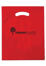 "Promotional Plastic Die Cut Bag - 12"" x 15"" x 3"""