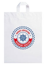 """Soft Loop Handle Promotional Bags - 12"""" x 15"""" x 5"""""""