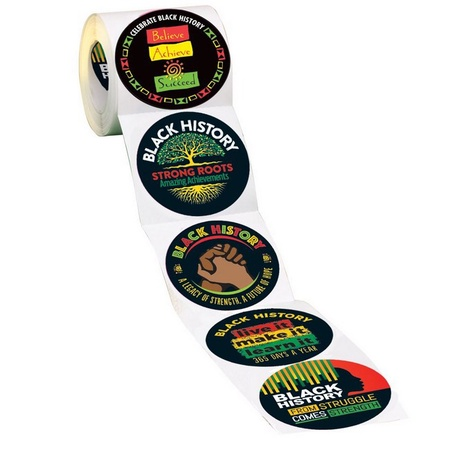 Black History Inspirations 5-On-A-Roll Stickers