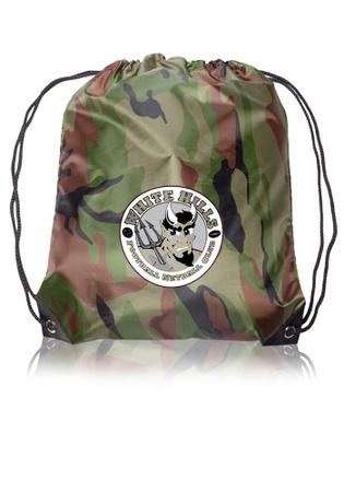 Black Trim Custom Drawstring Bags