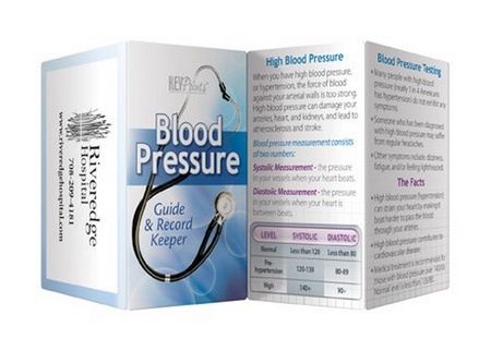Blood Pressure Guide & Record Keeper Key Points Wallet Card