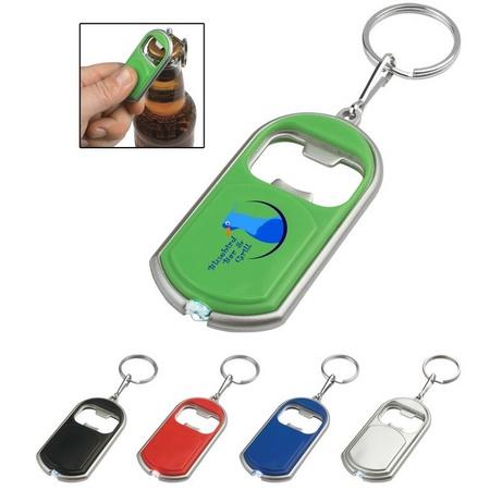 Logo Bottle Opener Key Chain with LED Light
