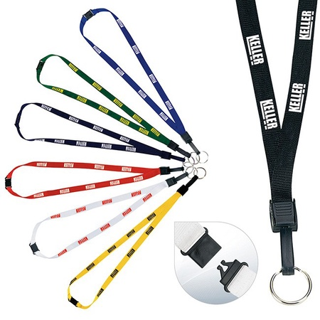 "Custom Breakaway Lanyard - 1/2"" - with Key Ring"