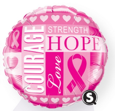 Breast Cancer Awareness Microfoil Balloons