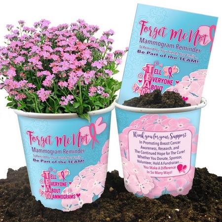 Breast Cancer Awareness Reminder Planter Set