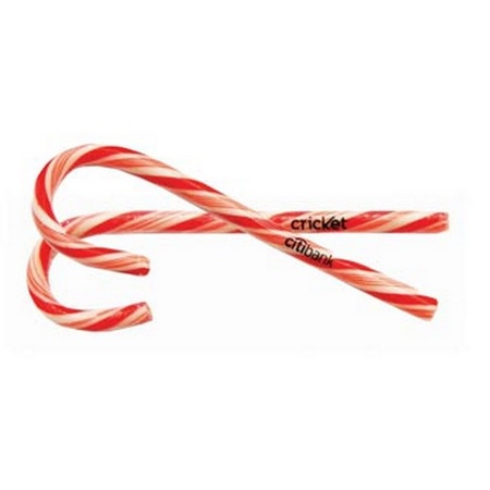 """5-1/2"""" Candy Canes in Printed Wrappers"""