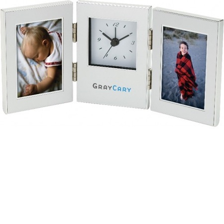 Cardin Clock with Dual Photo Frames