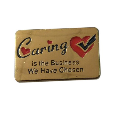 Caring Is The Business Lapel Pin
