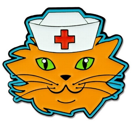 Cat Nurse Lapel Pin