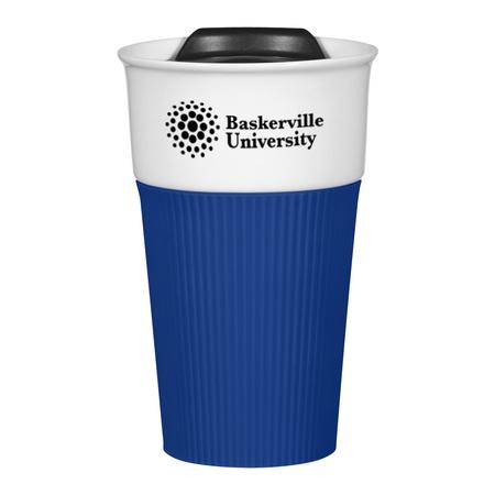 Custom Ceramic 13 oz. Mug with Silicone Sleeve