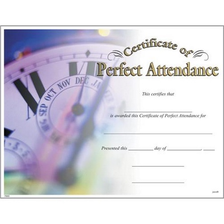 Certificate of Perfect Attendance