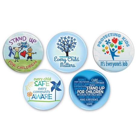 Child Abuse Prevention Month Button Assortment