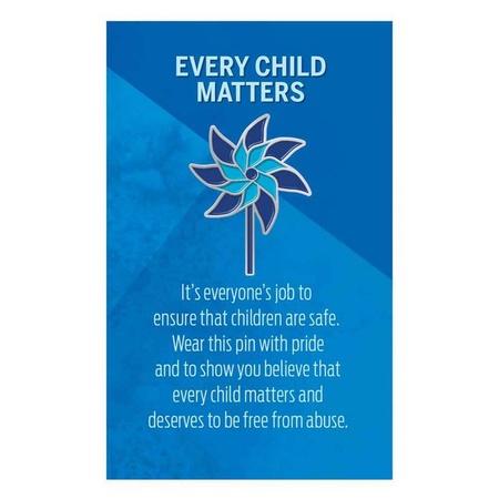 Child Safety Pinwheel Lapel Pins