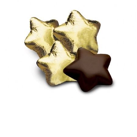 Chocolate Stars in Gold Foil