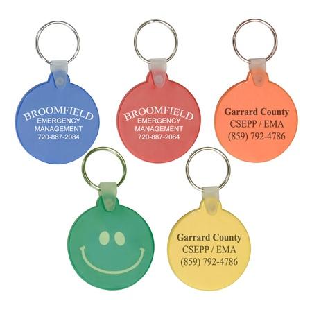 Circle Soft PVC Custom Keytags