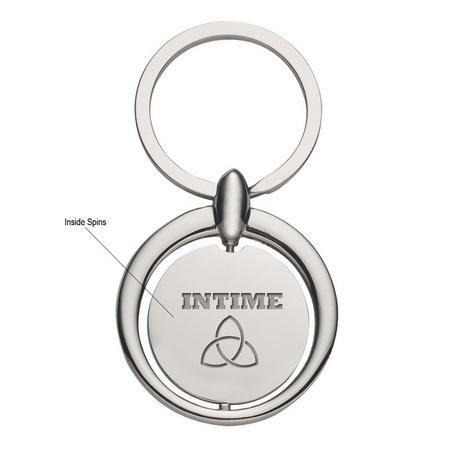 Circular Spinning Engraved Metal Key Tags