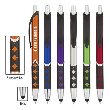 Personalized Cirque Metallic Stylus Pens