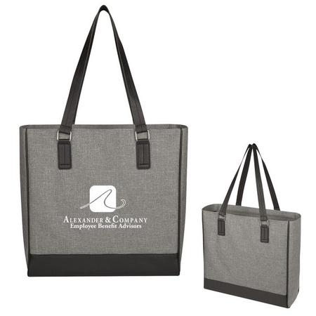 Classy Heathered Custom Tote Bags