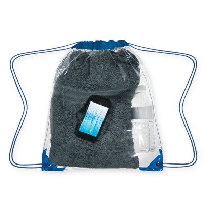 Clear Drawstring Backpack with Personalization