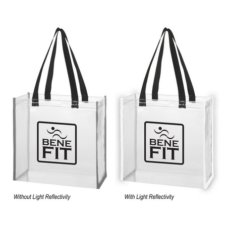 Clear Reflective Promotional Tote Bags