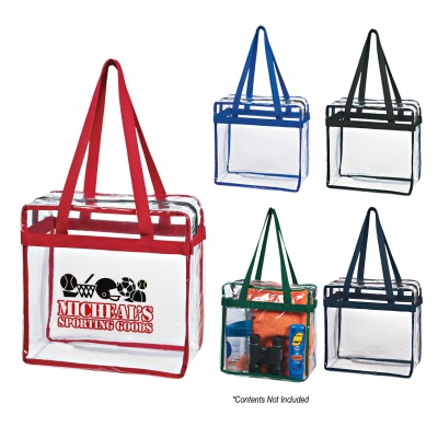 Personalized Clear Totes with Zipper