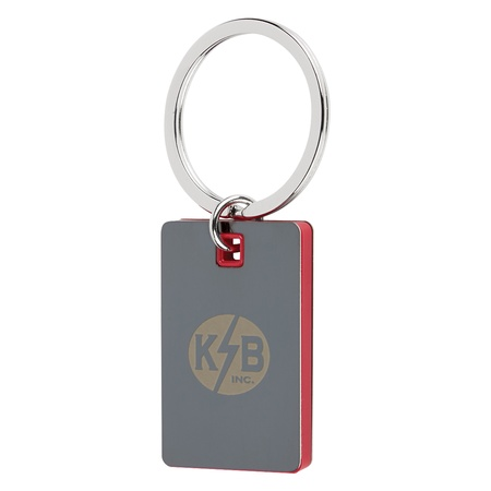 Color Block Promotional Mirror Key Tags