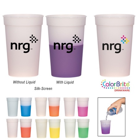 Color Changing 16 oz. Stadium Cups with Custom Printing