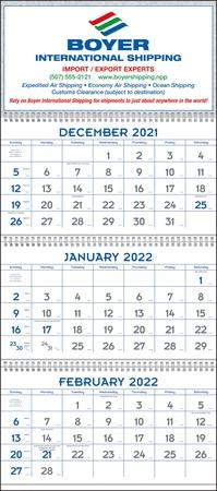 Commercial 3 Month 2022 Custom Planning Calendars