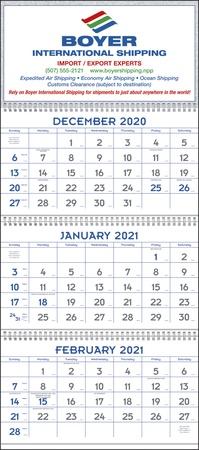 Commercial 3 Month 2021 Custom Planning Calendars
