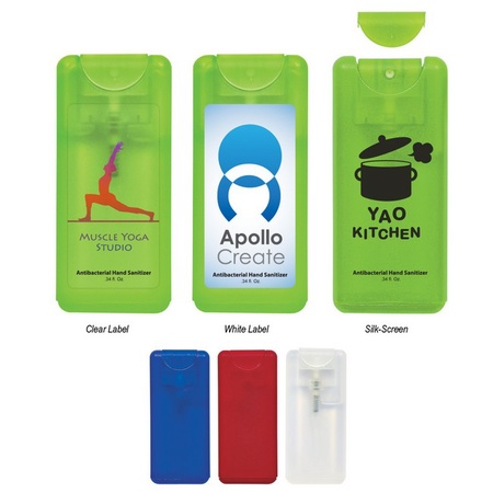 Compact Personalized Hand Sanitizer Spray - .34 oz.