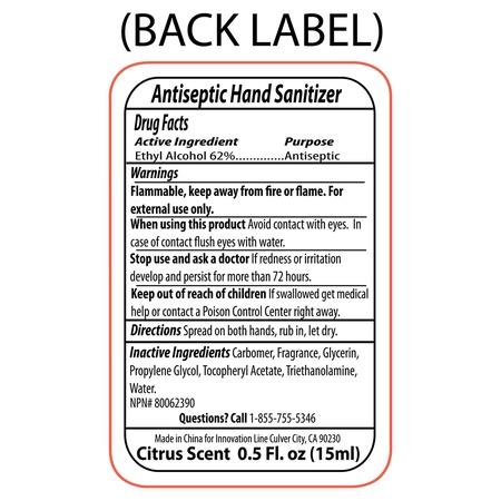 Compact Hand Sanitizer Squeeze Bottle - .5 oz.