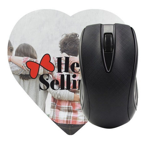 Promotional Computer Heart Mouse Pads