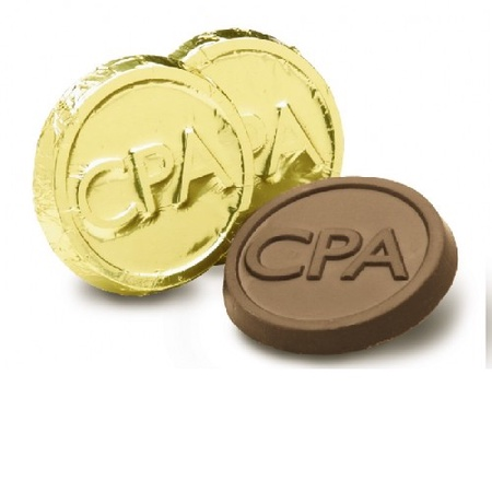 CPA Chocolate Gold Foil Coin