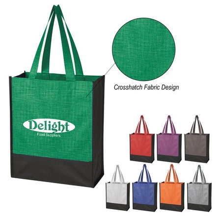 Crosshatch Mini Non-Woven Custom Tote Bags