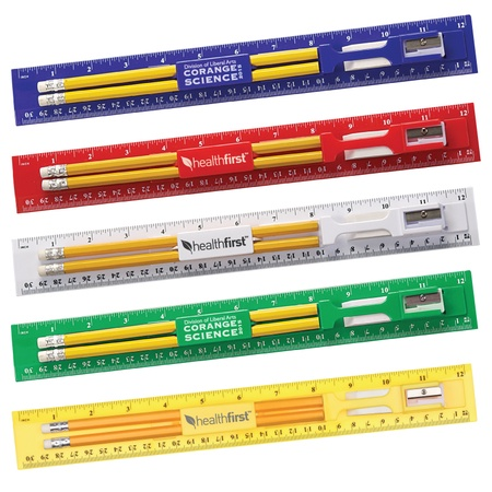 "Custom 12"" Ruler Stationery Kits"