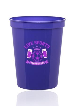 Custom 16 oz. Plastic Stadium Cups