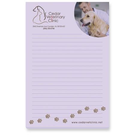 "Custom 4"" x 6"" 25 Sheet Sticky Notes"