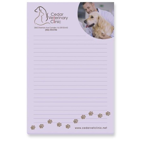 "Custom 4"" x 6"" 50 Sheet Sticky Notes"