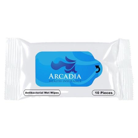 Custom Antibacterial Wet Wipe Packets