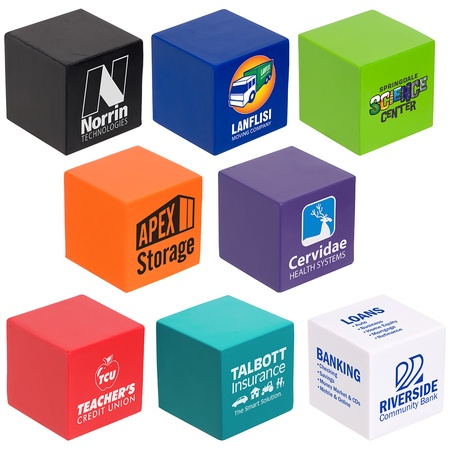 Custom Cube Stress Balls