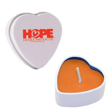 Custom Heart Candle Tins